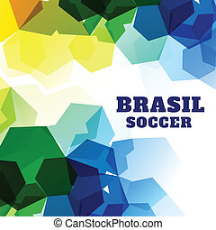 abstract soccer game