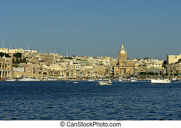 malta - ancient architecture of malta island at the port
