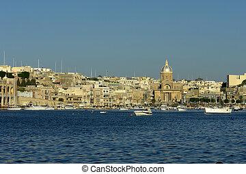malta - ancient architecture of malta island at the port