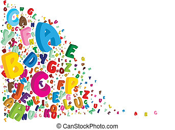 alphabet on a white background