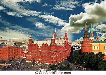 Russia, Moscow view of the Kremlin and the red square