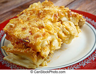 Pastitsio - a Greek and Mediterranean baked pasta dish...