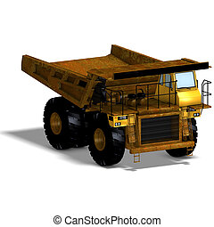 dumper - rendering of a heavy dumper with Clipping Path and...