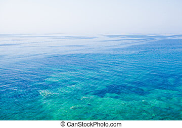 Adriatic sea water, airview Blue water background