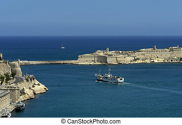 harbor - Valetta harbor view, Capital of Malta island...