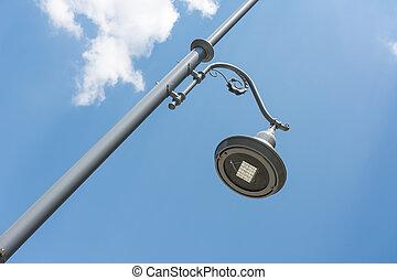 Street Light Pole Against Blue Sky