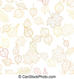 Autumn leaf skeletons template EPS10