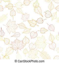 Autumn leaf skeletons template. EPS10