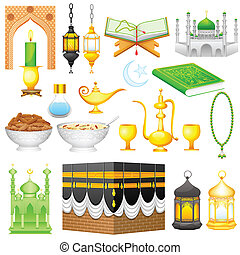 Object for Eid design - easy to edit vector illustration of...
