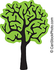 tree, isolated white background, vector