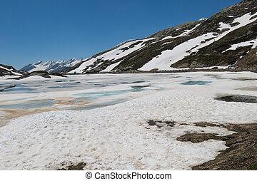 san bernardino pass - lake at san bernardino pass