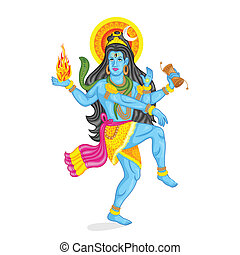 Lord Shiva - easy to edit vector illustration of Lord Shiva
