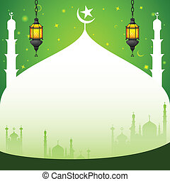 Iftar Party background - easy to edit vector illustration of...
