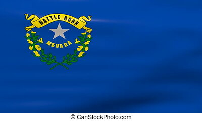 Waving Nevada State Flag, ready for seamless loop.