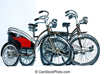 souvenir - Tricycles and bicycle for souvenir replica of...