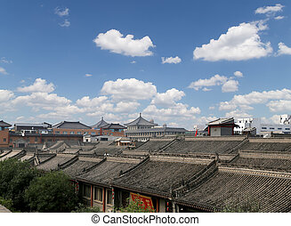 View of the city of Xian Sian, Xian, Shaanxi province, China...