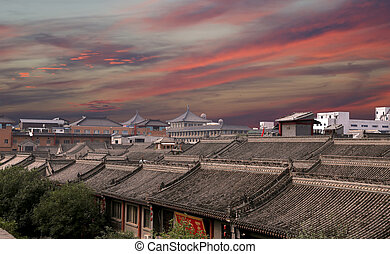 View of the city of Xian (Sian, Xi'an), Shaanxi province,...