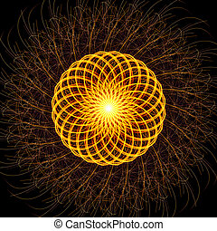 Light painting modern mandala abstract square background -...