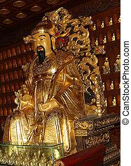 Statue of Xuanzang. Great Wild Goose Pagoda, Xian (Sian,...