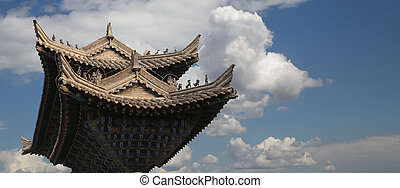 Ancient Pagoda-- Buddhist pagoda located in southern Xian...