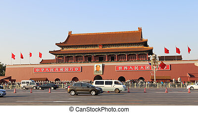 Tiananmen gate tower to the Forbidden City north of...