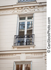 Exterior of a historical townhouse in Paris - Exterior of a...