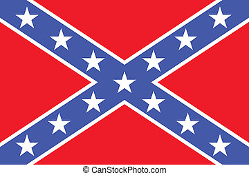 The Confederate flag. Very bright colors. - National flag of...