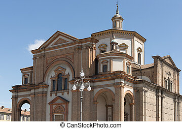 Minster massive building, Voghera, Italy - view from south...