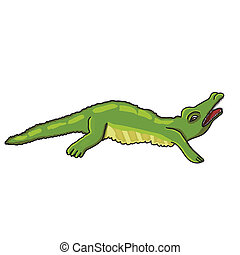 illustration of Cartoon crocodile vector