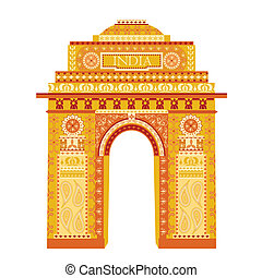 India Gate - easy to edit vector illustration of India Gate...