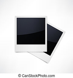 Isolated Photo Frames on White Background