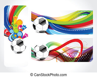 Football Banner Background Vector