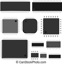 Set of vector chip. - Set of simple vector untitled...