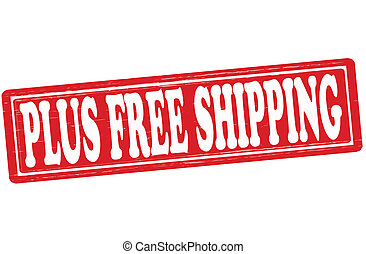 Plus free shipping - Stamp with text plus free shipping...