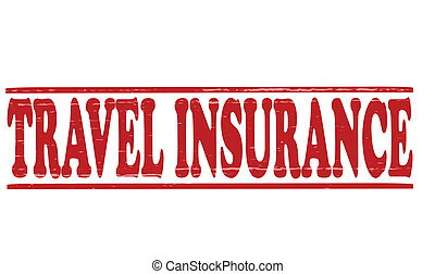 Travel insurance - Stamp with text travel insurance inside,...