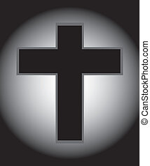 Two Tone Jesus Cross - Vector of Jesus Cross in Two Tone
