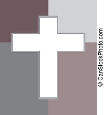 Two Tone Jesus Cross - Vector of Jesus Cross in Two Tone.