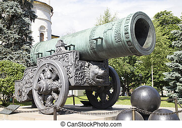 Tsar Cannon in Kremlin, Moscow, Russia