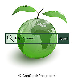 glass apple fruit earth map www bar on white background