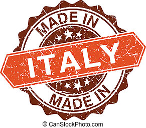 made in Italy vintage stamp isolated on white background