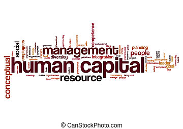 Human capital word cloud - Human capital concept word cloud...