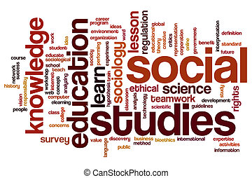 Social studies word cloud - Social studies concept word...