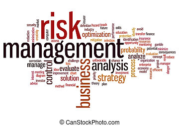 Risk management word cloud - Risk management concept word...