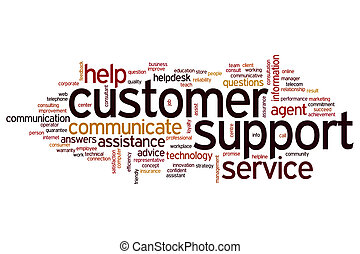 Customer support word cloud - Customer support concept word...