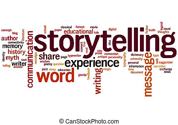 Storytelling word cloud - Storytelling concept word cloud...
