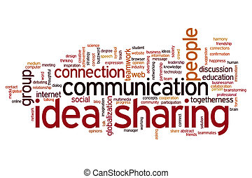 Idea sharing word cloud - Idea sharing concept word cloud...