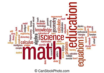 Math word cloud - Math concept word cloud background