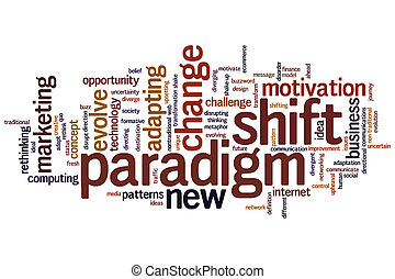 Paradigm shift word cloud - Paradigm shift concept word...