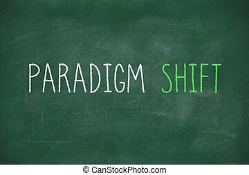 Paradigm shift handwritten on blackboard - Paradigm shift...