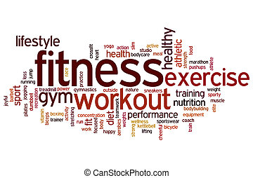 Fitness word cloud - Fitness concept word cloud background